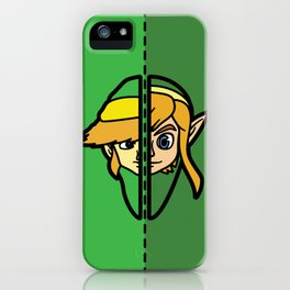 Old & New Link Comparison iPhone Case