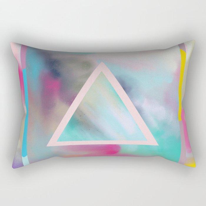 Rose Triangle Manifestation Rectangular Pillow