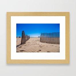 Sweat beach Framed Art Print
