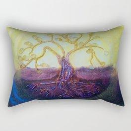Citrine Tree in Yellow & Purple Rectangular Pillow