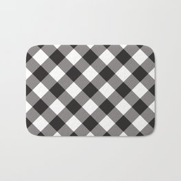 Gingham - Black Bath Mat