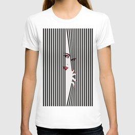 Peeking Woman (White) T-shirt