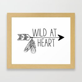 Wild at Heart - Boho Arrow Framed Art Print