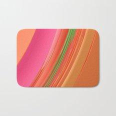 Peach Apricot Mango Bold Stripes Bath Mat