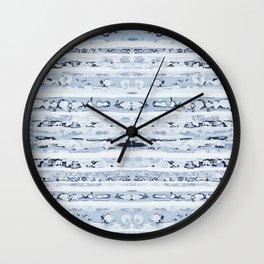 Boho Stripes Indigo Blue Wall Clock