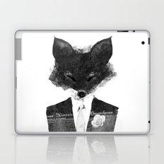 minima - dapper fox | noir Laptop & iPad Skin