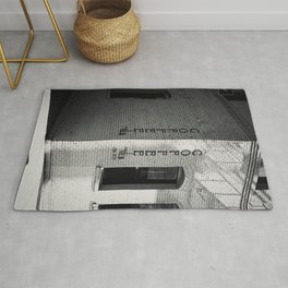 Coffee Print Vertical Black and White poster print Rug