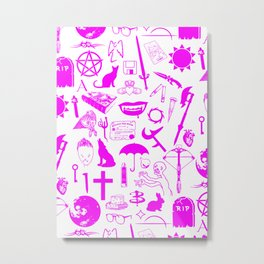 Buffy Symbology, Pink Metal Print