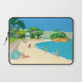 Modern Retro Art Print of Balmoral Beach, Sydney, Australia Laptop Sleeve