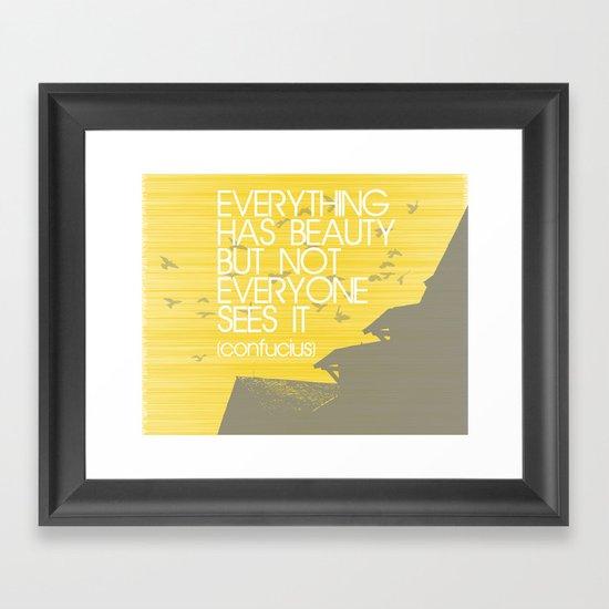 Confucius Quote Framed Art Print