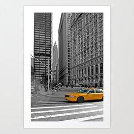 NYC Yellow Cabs Trinity Place - USA Art Print