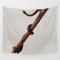 snake Wall Tapestries featuring snake by Bor Cvetko