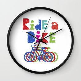 Ride a Bike - Sketchy Wall Clock