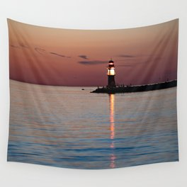Lighthouse at the Blue Hour Wall Tapestry