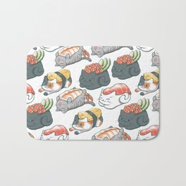 Sushi Cats Bath Mat