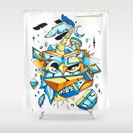Owl Paradise Shower Curtain