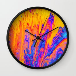 Over Active Brain Activity Fluid Abstract 60 Wall Clock