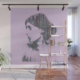 Virginia Woolf Book Titles  Wall Mural