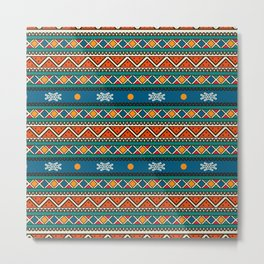 Ethnic multicolored pattern Metal Print