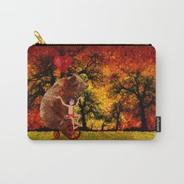 Bicycle bear and the jungle boy iPhone 4 4s 5 5c 6, pillow case, mugs and tshirt Carry-All Pouch