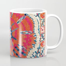 Large Medallion Suzani Bokhara Uzbekistan Embroidery Print Coffee Mug
