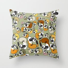 Black Footed Ferret pattern Throw Pillow