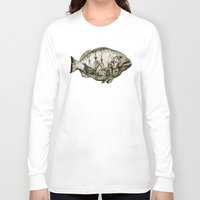 fish Long Sleeve T-shirts featuring fish by Кaterina Кalinich