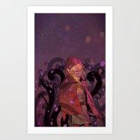 Purple haze and tree maze Art Print