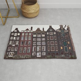 Traditional houses in Amsterdam Rug