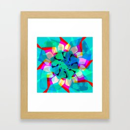 Techno Dudes 3 Blue Framed Art Print