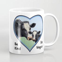 Holstein Cow and Calf Vegan Coffee Mug