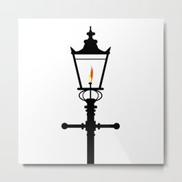 Victorian Isolated Gaslight Metal Print