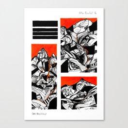 After Wainwright - Bowfell 16 Canvas Print