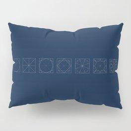 8 fold rosette in blue Pillow Sham