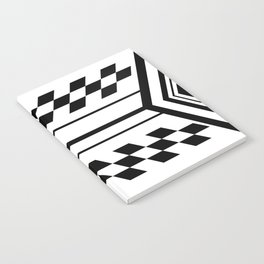 Inverted Black & White Symmetrical Notebook