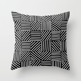 Sketching Abstraction Throw Pillow