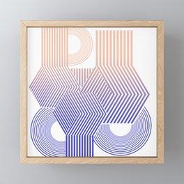 Minimal geometric stripes modern Framed Mini Art Print