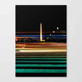 The Washington Monument at Night Canvas Print