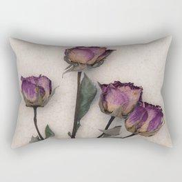 four dried roses Rectangular Pillow