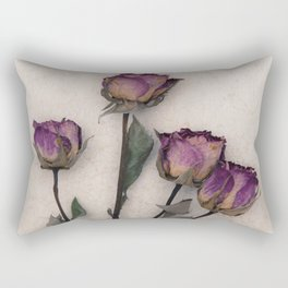 four dried roses Rectangular Pillow