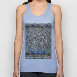 Cambridge University campus map Unisex Tank Top