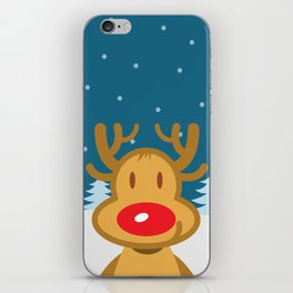 christmas deer iPhone Skin