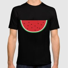 Watermelon Fisher Mens Fitted Tee Black MEDIUM