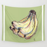 banana Wall Tapestries featuring Banana by Ursula Rodgers