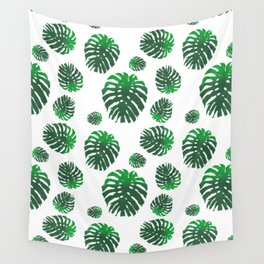 Monstera Deliciosa pattern Wall Tapestry
