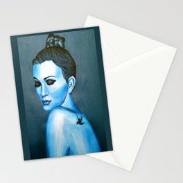 Blue Emotions Stationery Cards