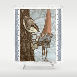Gnome Tapper Shower Curtain