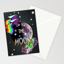 Up to the moon Stationery Cards