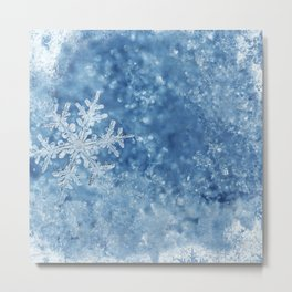 Winter wonderland Snowflakes Metal Print
