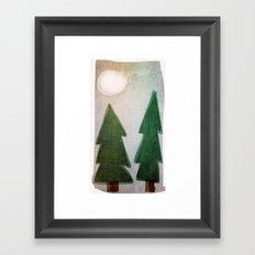 Forest nights Framed Art Print